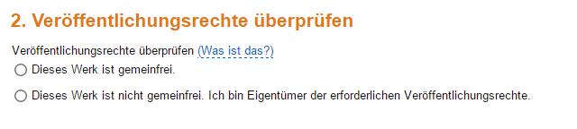Amazon KDP Veröffentlichungsrechte überprüfen