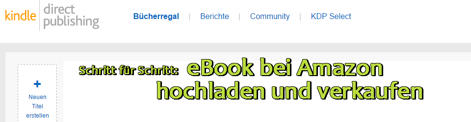 eBook bei Amazon verkaufen