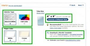 CreateSpace: Farbe und Größe deines Buches