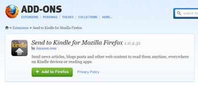 Das Kindle-Plugin für den Firefox