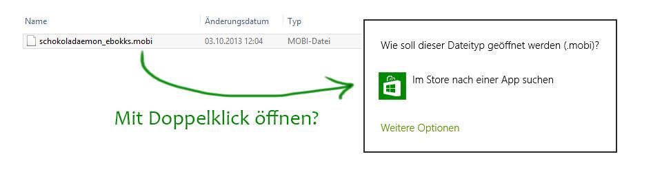 MOBI öffnen unter Windows 8
