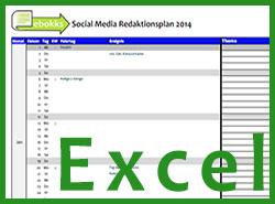 Social Media Redaktionsplan für Autoren 2014 (Excel)