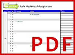 Social Media Redaktionsplan für Autoren 2014 (PDF)