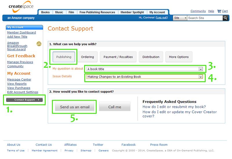 CreateSpace-Support kontaktieren