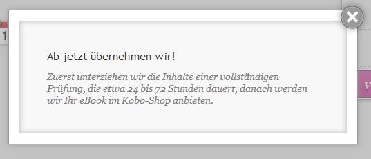 EPUB-eBook veröffentlichen bei Kobo