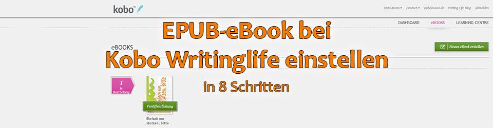 EPUB-eBook bei Kobo veröffentlichen