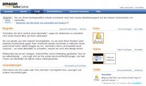 Autorenmarketing: Amazon Authorcentral