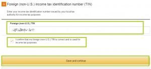 CreateSpace Online-Formular tax information ausfüllen