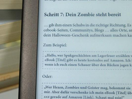 Textboxen in eBook mit gestricheltem Rahmen
