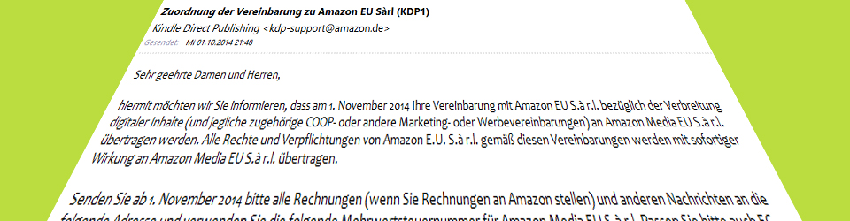 Amazon Steuernummer KDP und CreateSpace
