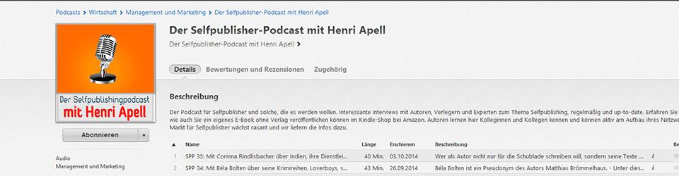 Corinna Rindlisbacher beim Selfpublisher-Podcast mit Henri Apell