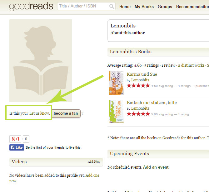 Goodreads deutsch: Link zum Author Program