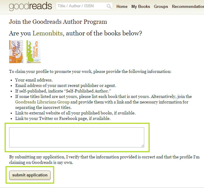 Goodreads deutsch: Goodreads Author Program