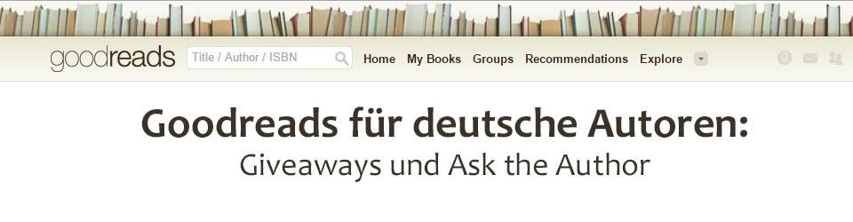 Goodreads deutsch für Autoren