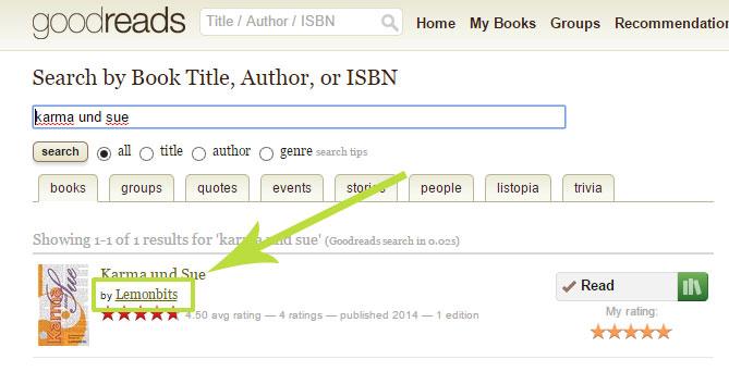 Goodreads deutsch: Autorenprofil finden