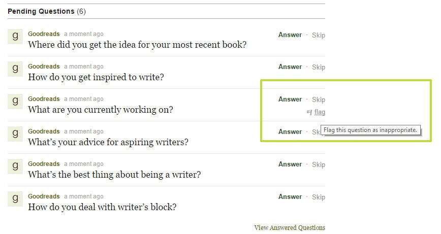 Goodreads deutsch: Fragen beantworten