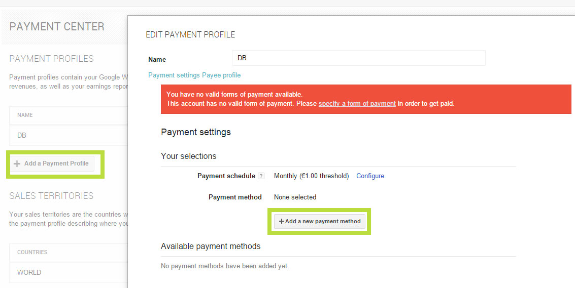 Neue Zahlungsmethode bei Google Play
