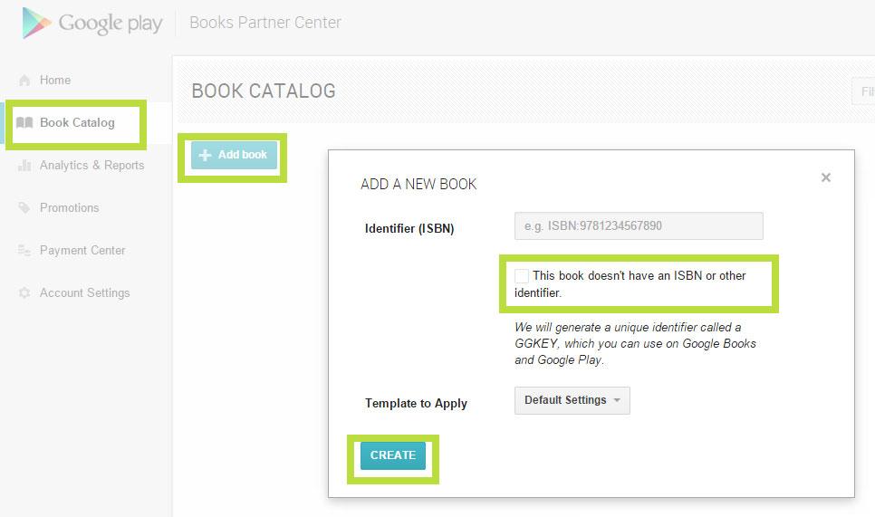 Neues eBook bei Google Play einstellen