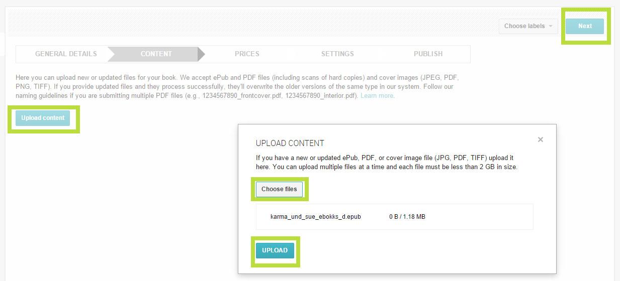 EPUB-eBook bei Google Play verkaufen