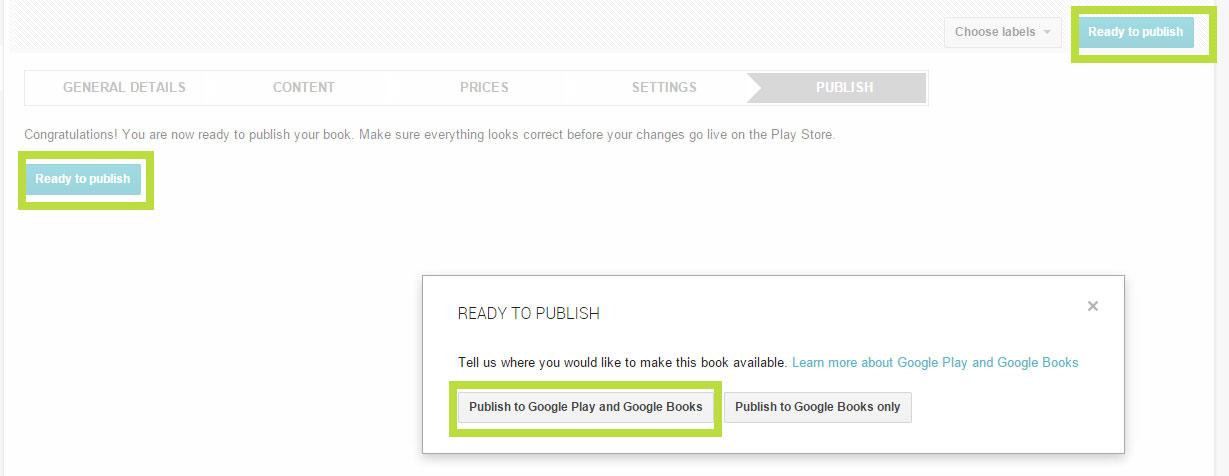 eBook Google Play verkaufen