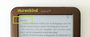 Ein Hurenkind (einzelne Zeile) im eBook