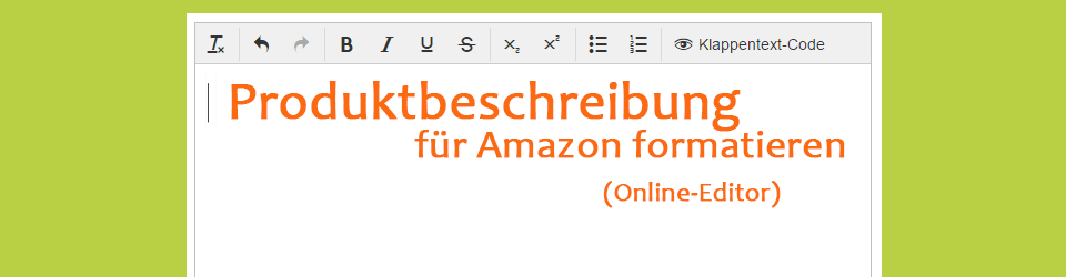 Amazon Produktbeschreibung html