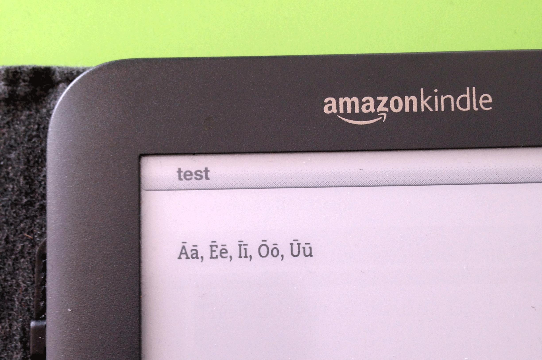 Vokale mit Längenzeichen im eBook einbinden