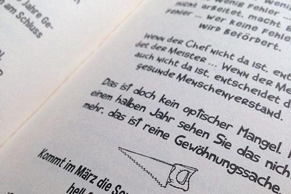 """Buchsatz für Stefans Krills Buch """"Best of Handwerkersprüche"""""""