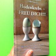"""Umschlag des Taschenbuches """"Hodenkrebs – Freu dich!!!"""""""