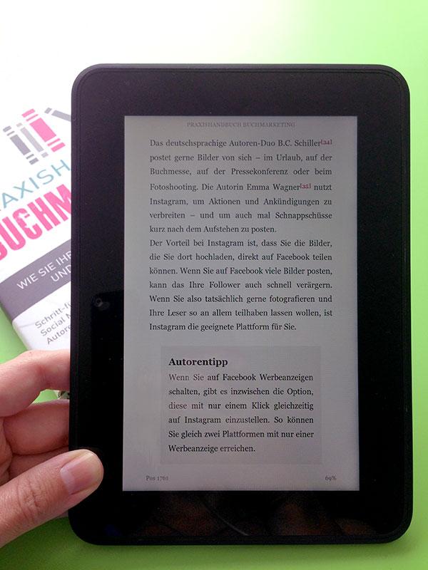 """eBook-Layout """"Praxishandbuch Buchmarketing"""""""