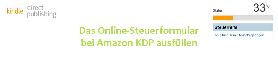 Steuerformular bei Amazon KDP ausfüllen