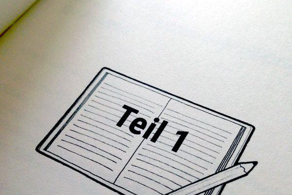 Illustration für einen Schreibratgeber