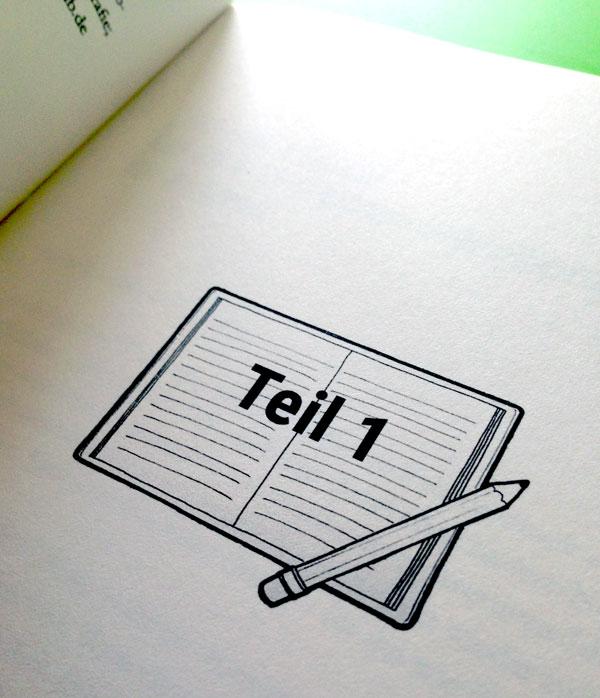 """Buchsatz """"Schreib täglich!"""" von Denise Fritsch – mit Illustration"""