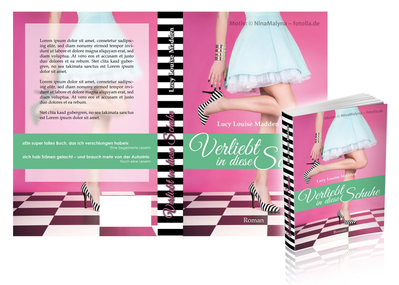 """Premade-Cover/Umschlag """"PinkChess"""""""