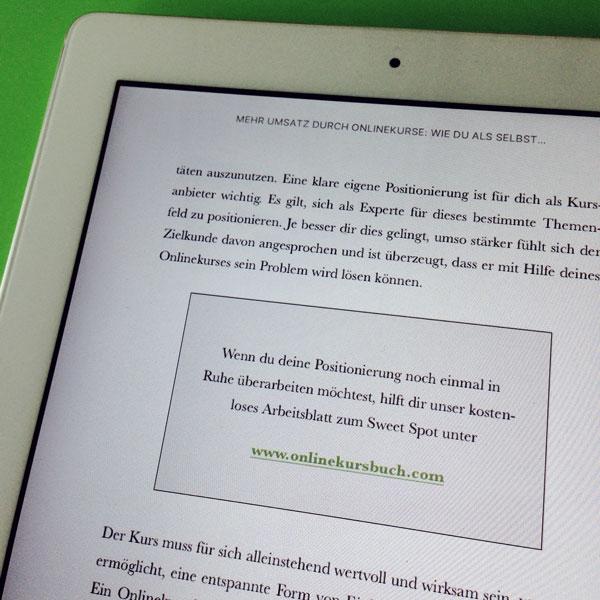 """eBook-Layout """"Mehr Umsatz durch Onlinekurse"""" von Dahlke & Gursky"""